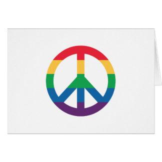 Cartes Signe de paix de fierté d'arc-en-ciel
