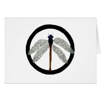 Cartes Signe de paix de libellule