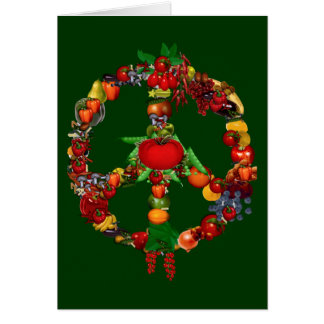 Cartes Signe de paix végétarien
