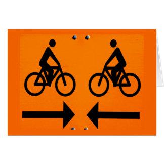 Cartes Signe de recyclage allant à vélo de la Finlande de