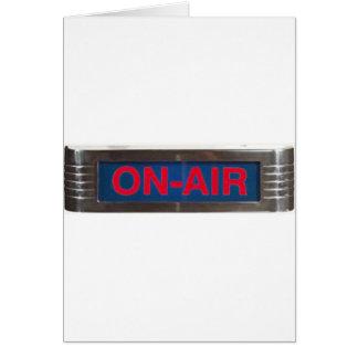 Cartes Signe de Sur-Air ou radiodiffusion antique de