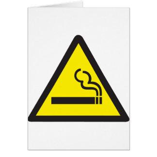 Cartes Signe de tabagisme de fumeur