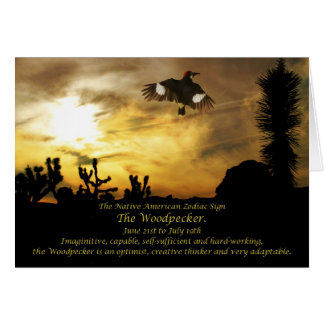 Cartes Signe de zodiaque de Natif américain le