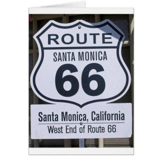 Cartes Signe officiel Santa Monica d'extrémité de