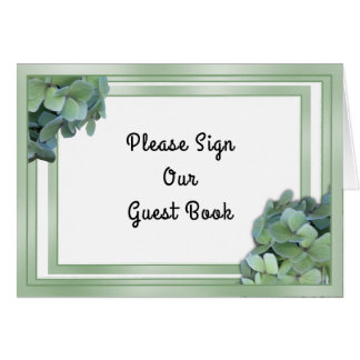 Cartes Signe vert de Tableau de livre d'invité de mariage