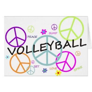 Cartes Signes de paix colorés par volleyball