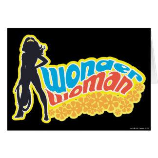 Cartes Silhouette de femme de merveille