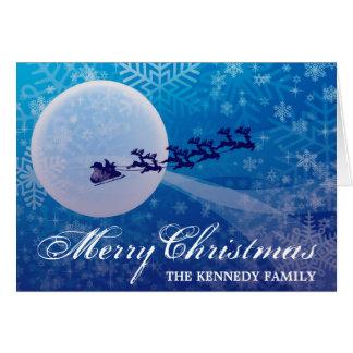 Cartes Silhouette de Père Noël et de renne