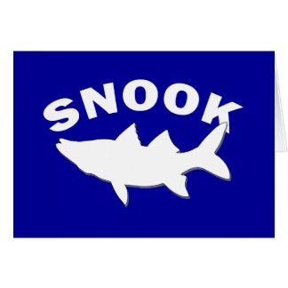 Cartes Silhouette de Snook - pêche de Snook