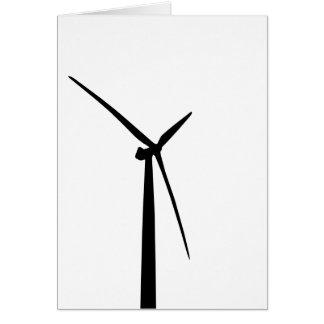 Cartes Silhouette simple d'énergie de vert de turbine de