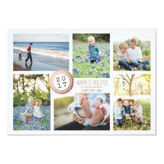 Cartes simple scellée de vacances de photo de carton d'invitation  12,7 cm x 17,78 cm