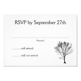 Cartes simples de blanc de l'invitation RSVP