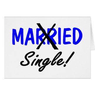 Cartes Simples divorcés (bleu)