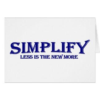 Cartes Simplifiez moins est plus