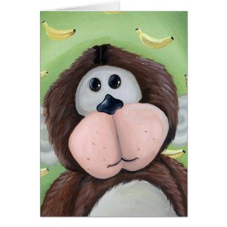 Cartes Singe avec l'arrière - plan de banane