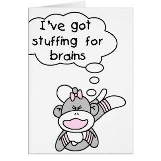 Cartes Singe bourrant pour des cerveaux