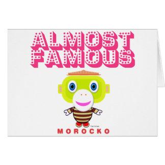 Cartes Singe-Morocko presque célèbre 2-Cute