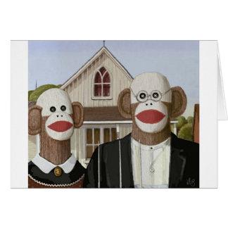 Cartes Singes gothiques américains de chaussette