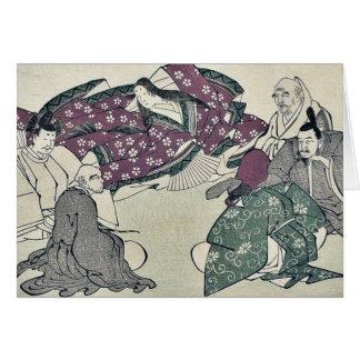 Cartes Six poètes par Kitagawa, Utamaro Ukiyoe