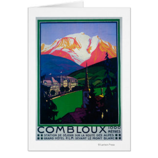 Cartes Ski à l'affiche promotionnelle de Combloux