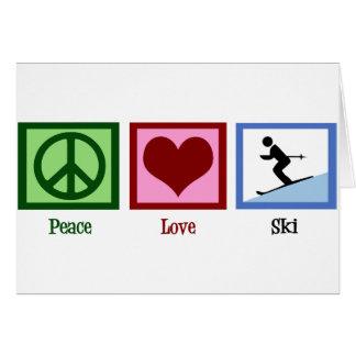 Cartes Ski d'amour de paix