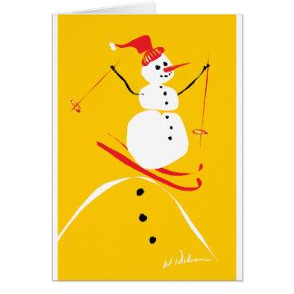 Cartes Ski de bonhomme de neige