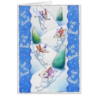 Cartes Ski de bonhommes de neige