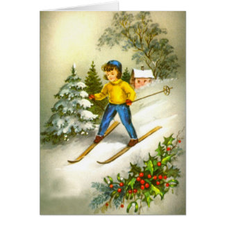 Cartes Ski de fille