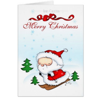 Cartes Ski de Père Noël