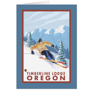 Cartes Skieur de neige de Downhhill - loge de Timberline,