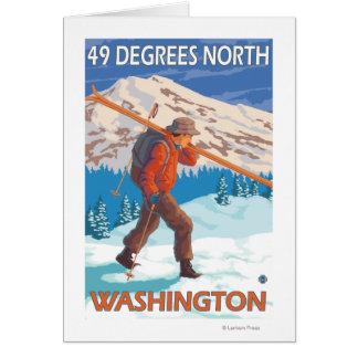 Cartes Skis de transport de neige de skieur - 49 degrés
