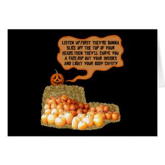 Cartes Slogan drôle Halloween