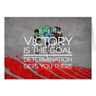 Cartes Slogan SUPÉRIEUR de victoire de voie