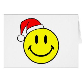 Cartes Smiley (casquette de Père Noël)