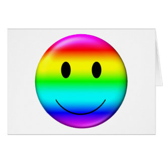 Cartes smiley du gay pride 3D