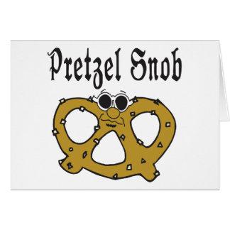 Cartes Snob drôle de bretzel