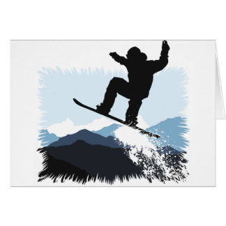 Cartes Snowboarder actions Jump