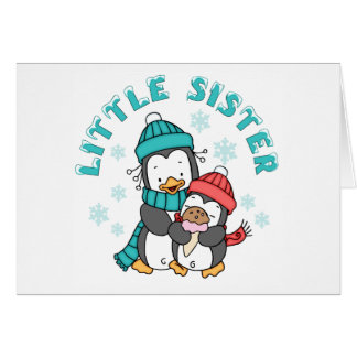 Cartes Soeur d'hiver de pingouin petite