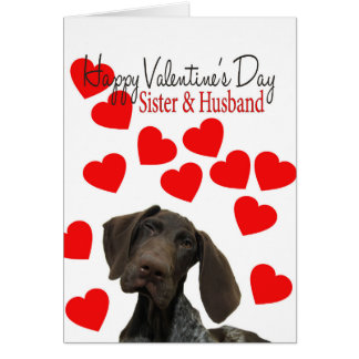 Cartes Soeur et mari Valentine grisâtre brillant
