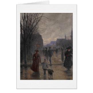 Cartes Soirée pluvieuse sur l'avenue de Hennepin, c.1902