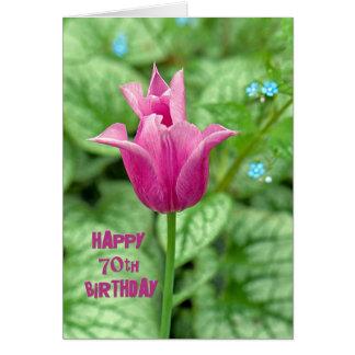 Cartes soixante-dixième Tulipe d'anniversaire
