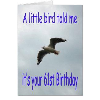 Cartes Soixante-et-unième oiseau heureux de mouette de