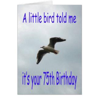 Cartes Soixante-quinzième oiseau heureux de mouette de