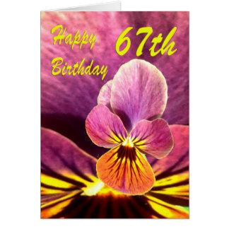 Cartes Soixante-septième pensée heureuse de fleur