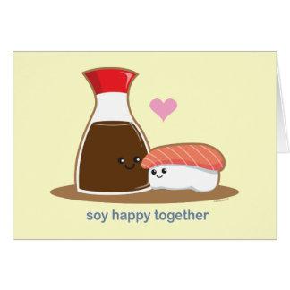 Cartes Soja heureux ensemble