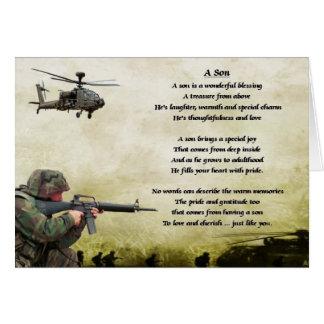 Cartes Soldat d'armée - poème de fils