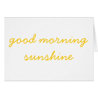 Cartes Soleil bonjour