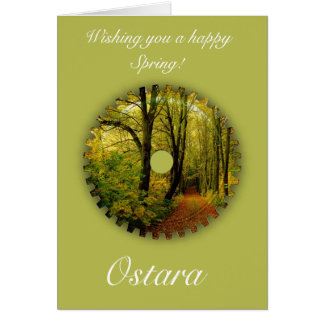 Cartes Solstice de ressort d'Ostara avec le paysage de