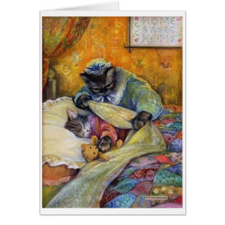 Cartes Sommeil fortement, chaton,