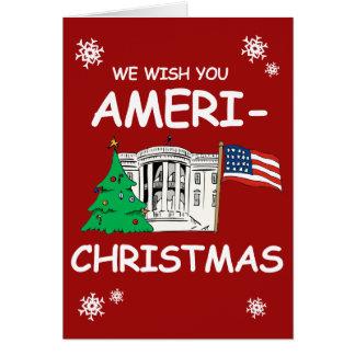 Cartes Souhait d'atout et de penny vous Ameri-Noël